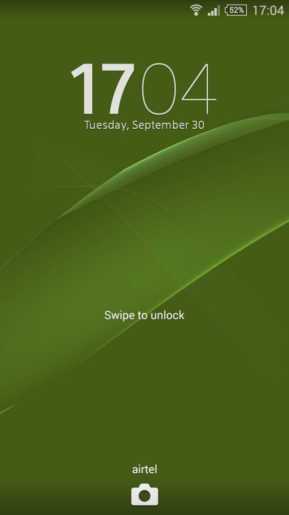 Sony Xperia Z3 Comapct_lockscreen
