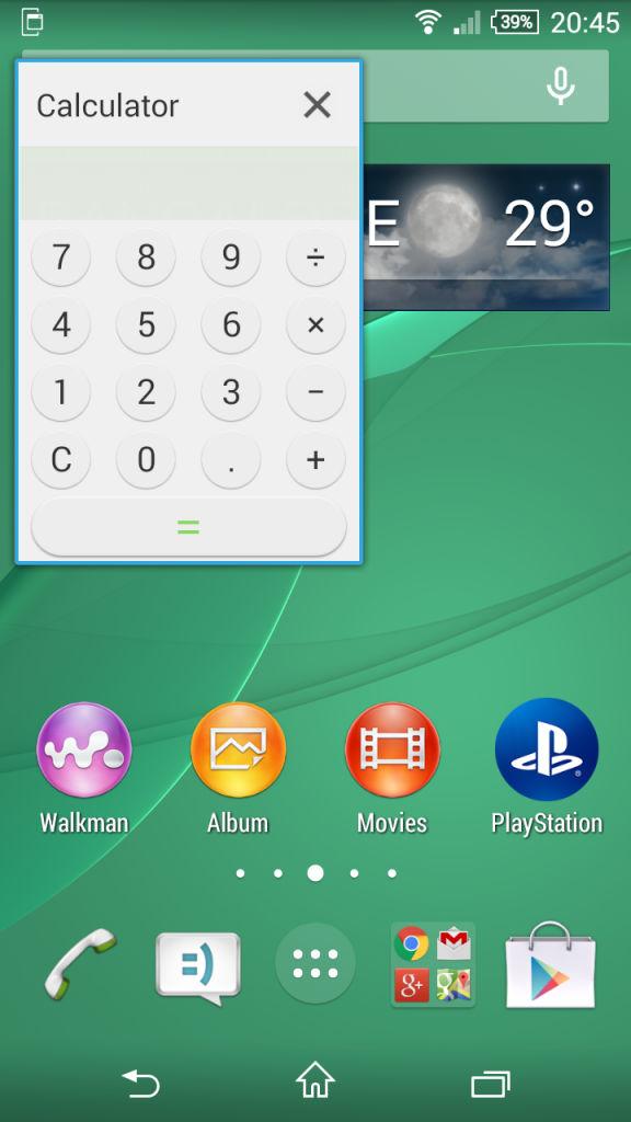 Sony Xperia Z3 Comapct_small apps