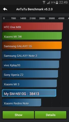 Antutu benchmark on Samsung Galaxy Note 4 (1)