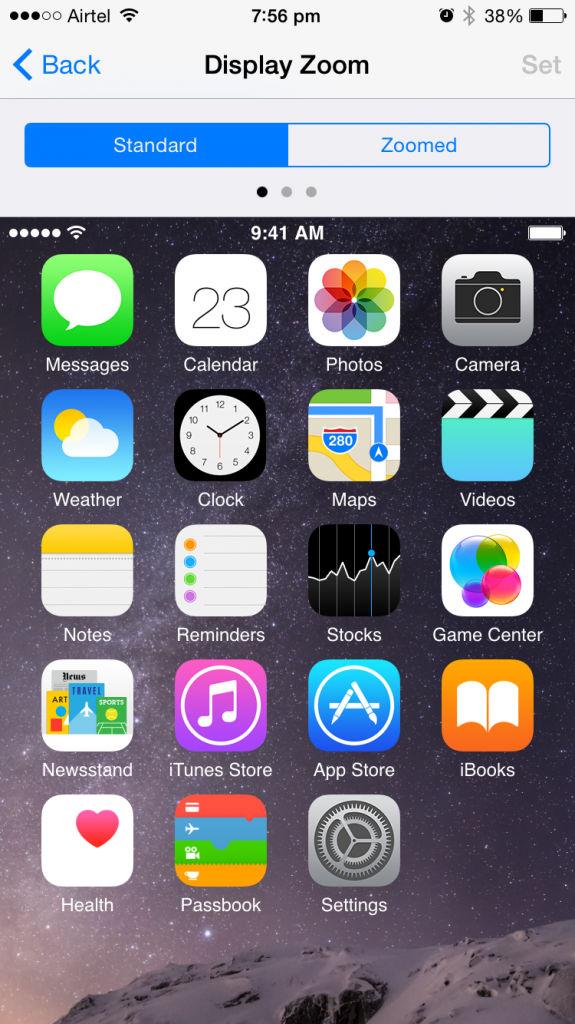 Apple iPhone 6_Display Zoom Standard