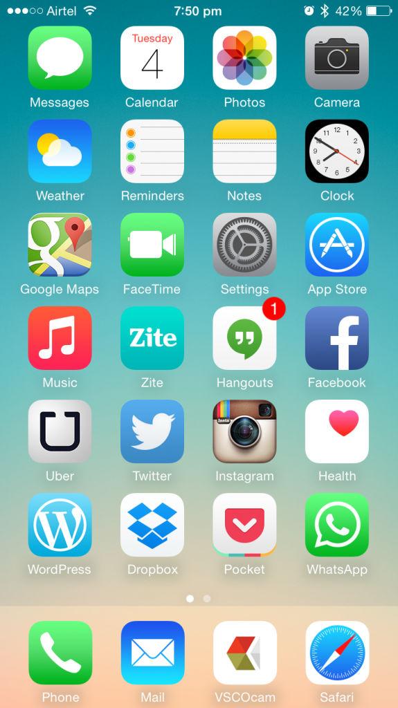 Apple iPhone 6_homescreen