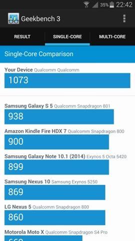 Geekbench 3 benchmark on Samsung Galaxy Note 4 (2)