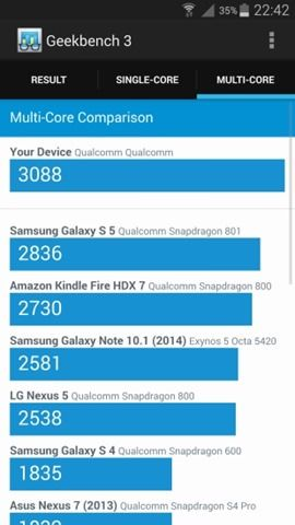 Geekbench 3 benchmark on Samsung Galaxy Note 4 (3)