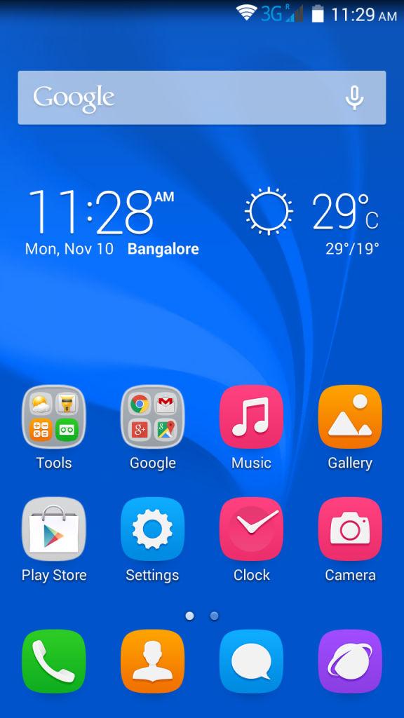 Huawei Honor Holly_homescreen