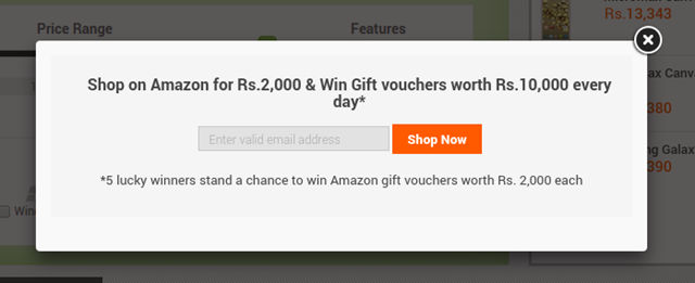 amazon diwali dhamakha pop up