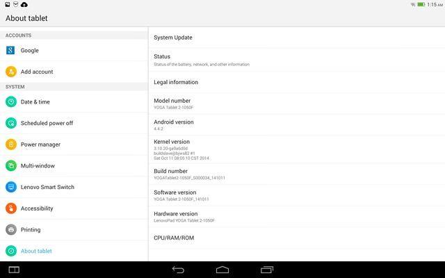 Lenovo Yoga Tablet 2 (11) screenshot