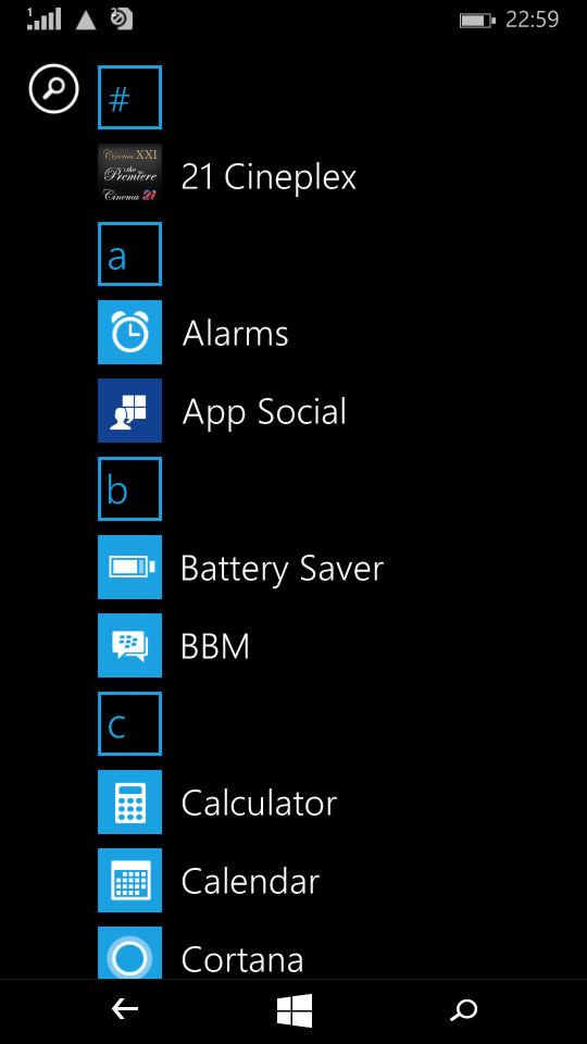 Microsoft Lumia 535_apps