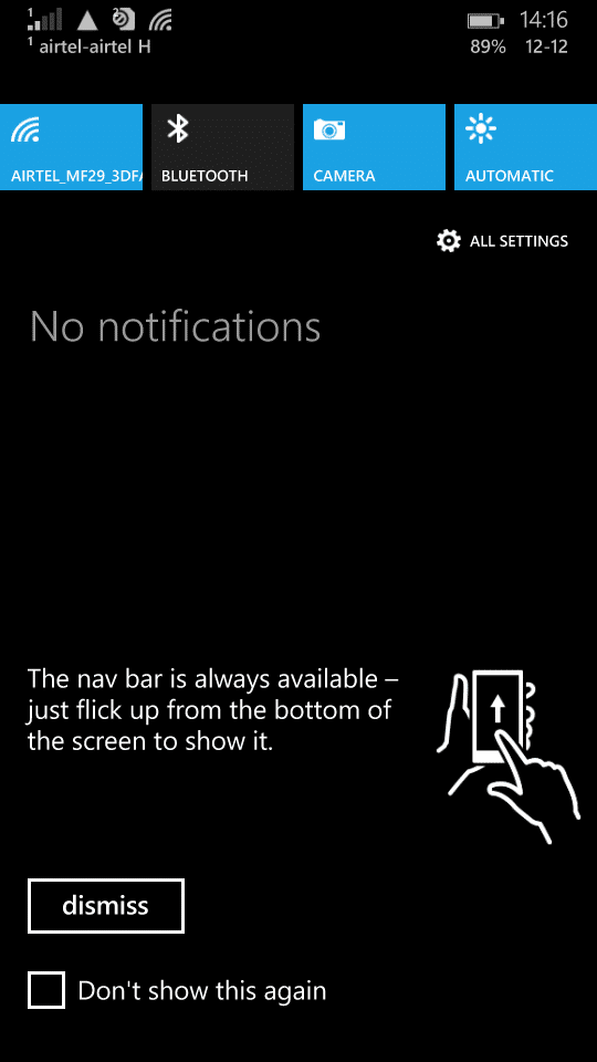 Microsoft Lumia 535_navigation bar