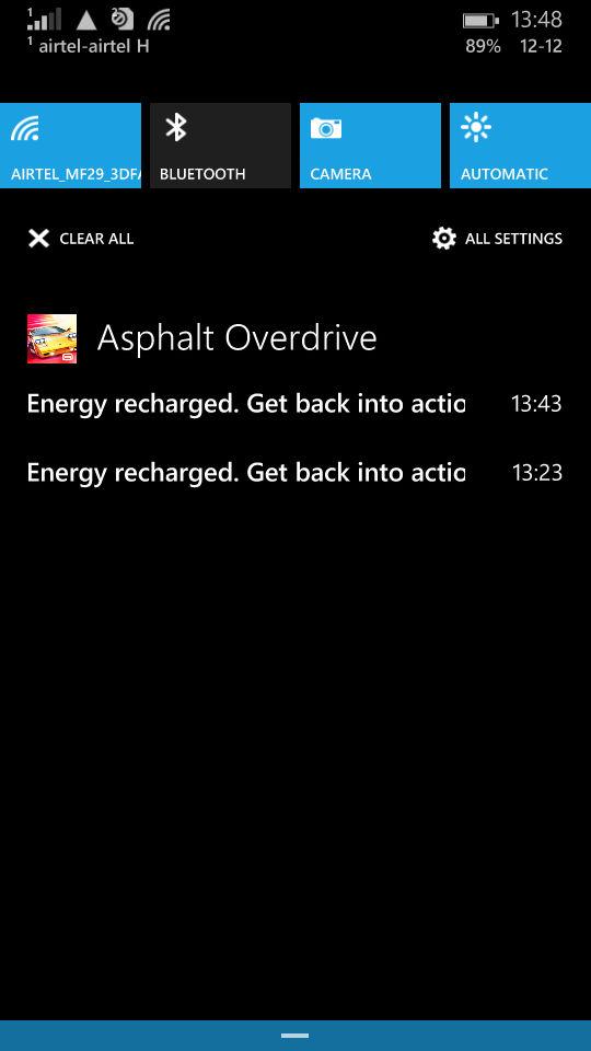 Microsoft Lumia 535_notification bar
