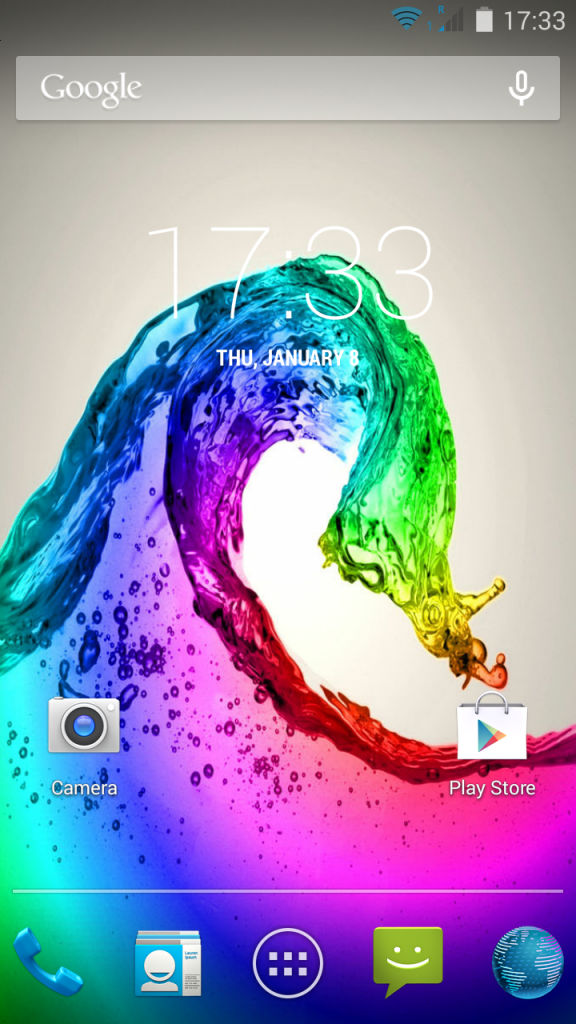 Lava Iris Fuel 60_homescreen