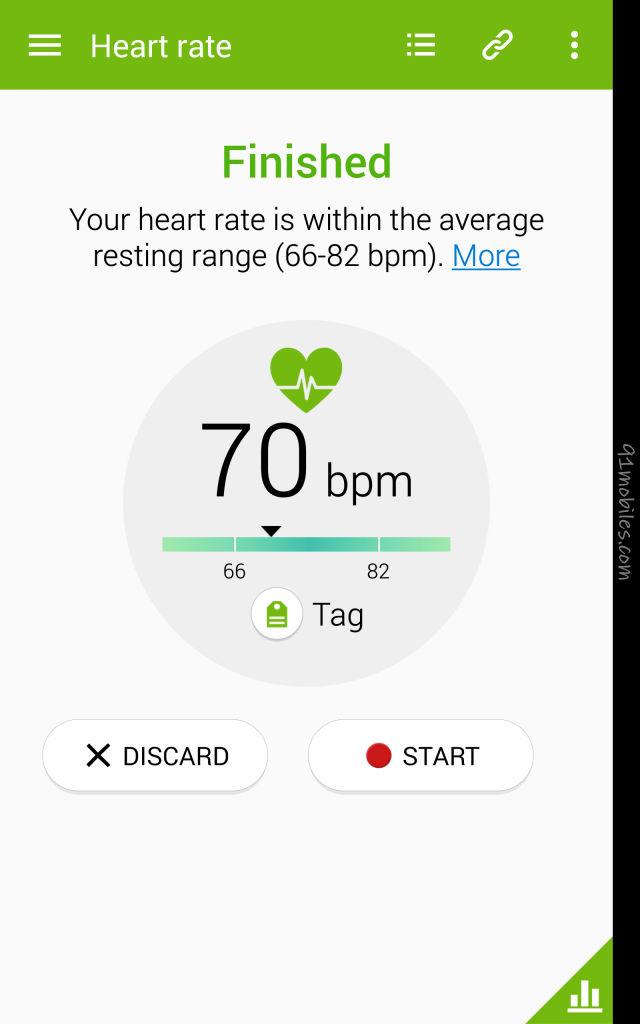 Samsung Galaxy Note Edge_Heart Rate sensor
