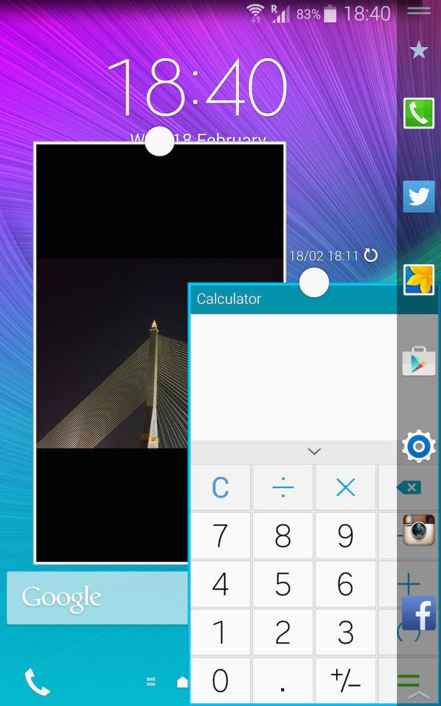 Samsung Galaxy Note Edge_Multi Window