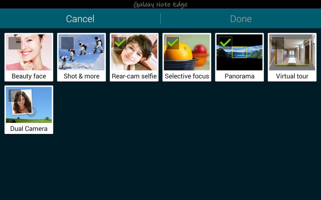 Samsung Galaxy Note Edge_camera modes