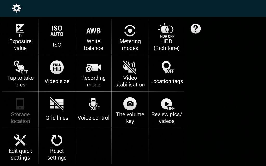 Samsung Galaxy Note Edge_camera settings