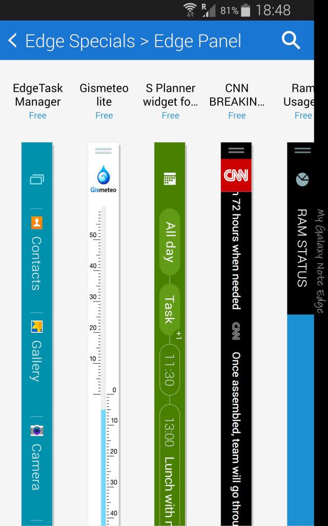 Samsung Galaxy Note Edge_edge panels extra