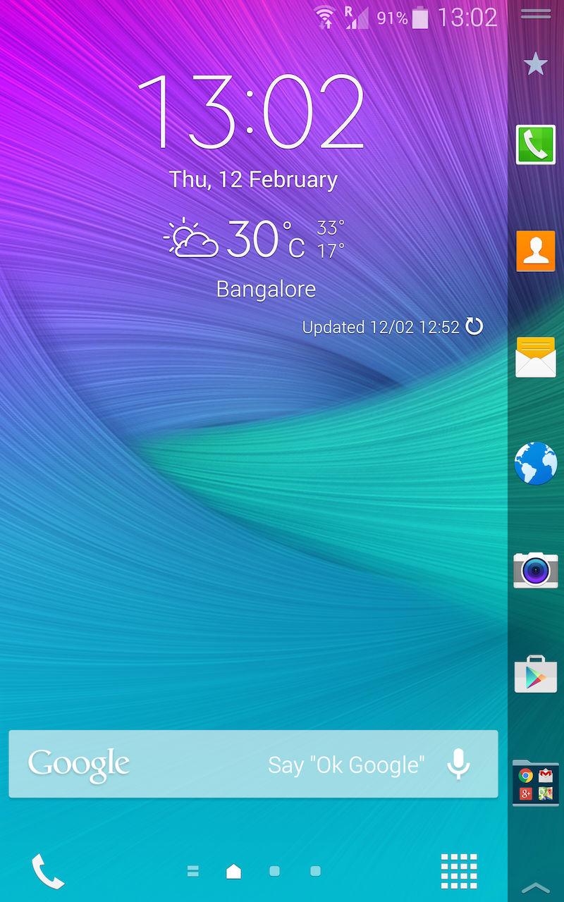 Samsung Galaxy Note Edge_homescreen