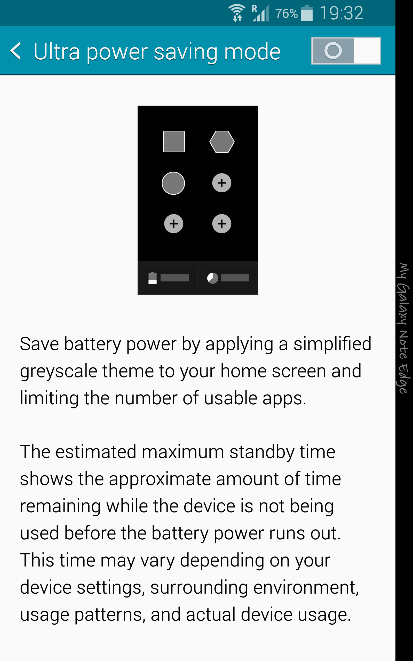 Samsung Galaxy Note Edge_power saving