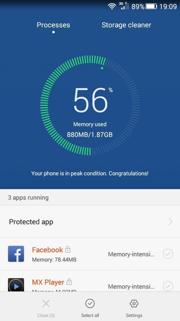 Honor 4x_Phone accelerator