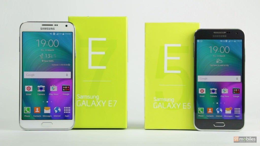 Samsung Galaxy E5 and E7