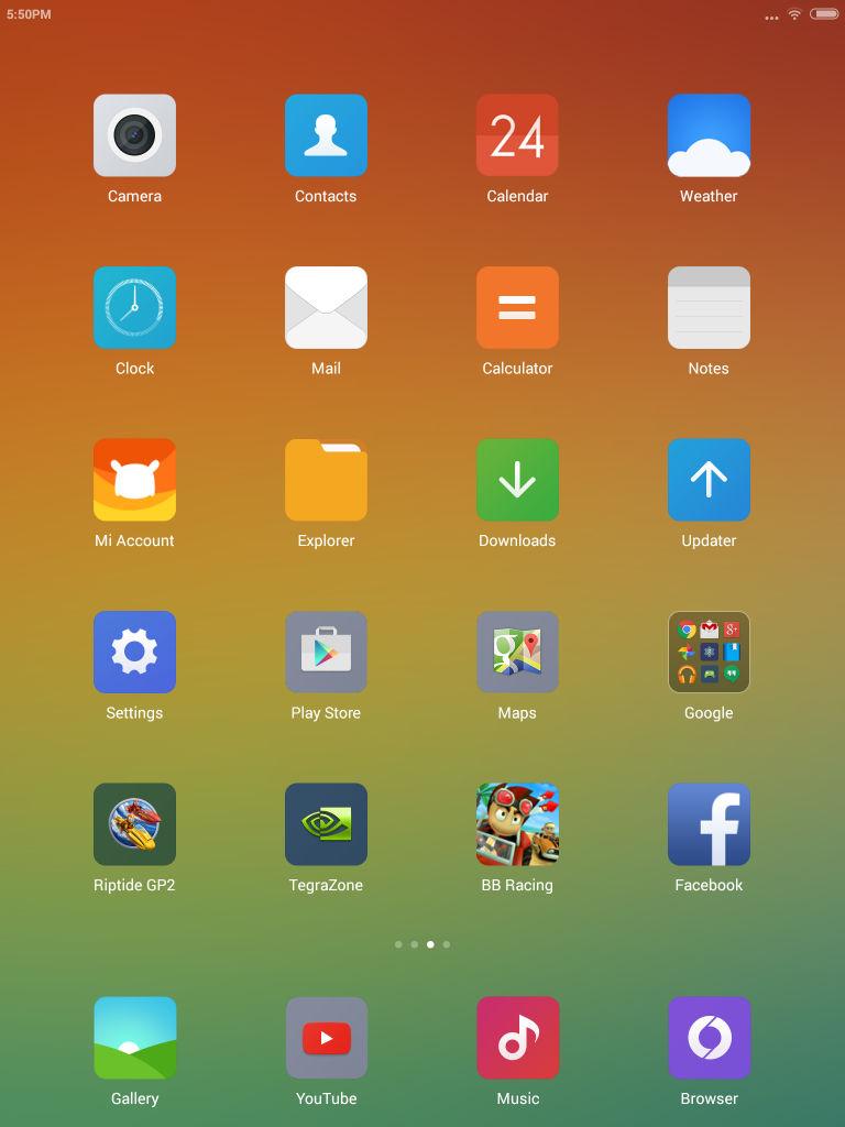 Xiaomi Mi Pad_homescreen apps