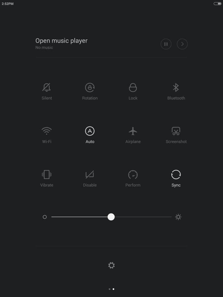 Xiaomi Mi Pad_quick settings