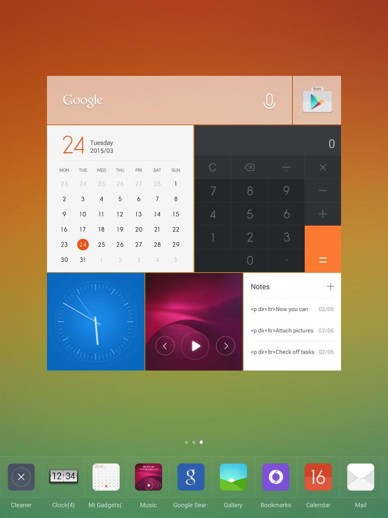 Xiaomi Mi Pad_widgets_2