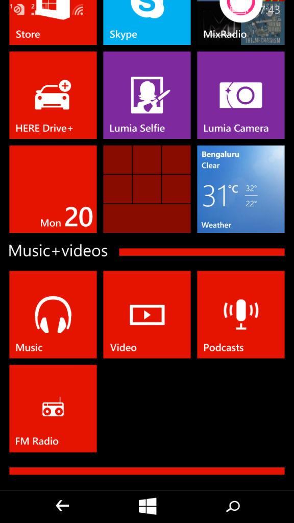 Microsoft Lumia 640 XL_app folders