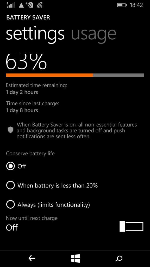 Microsoft Lumia 640_battery