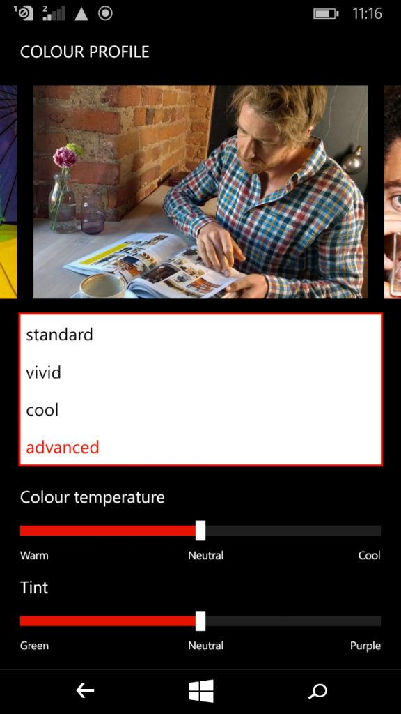 Microsoft Lumia XL_colour profile