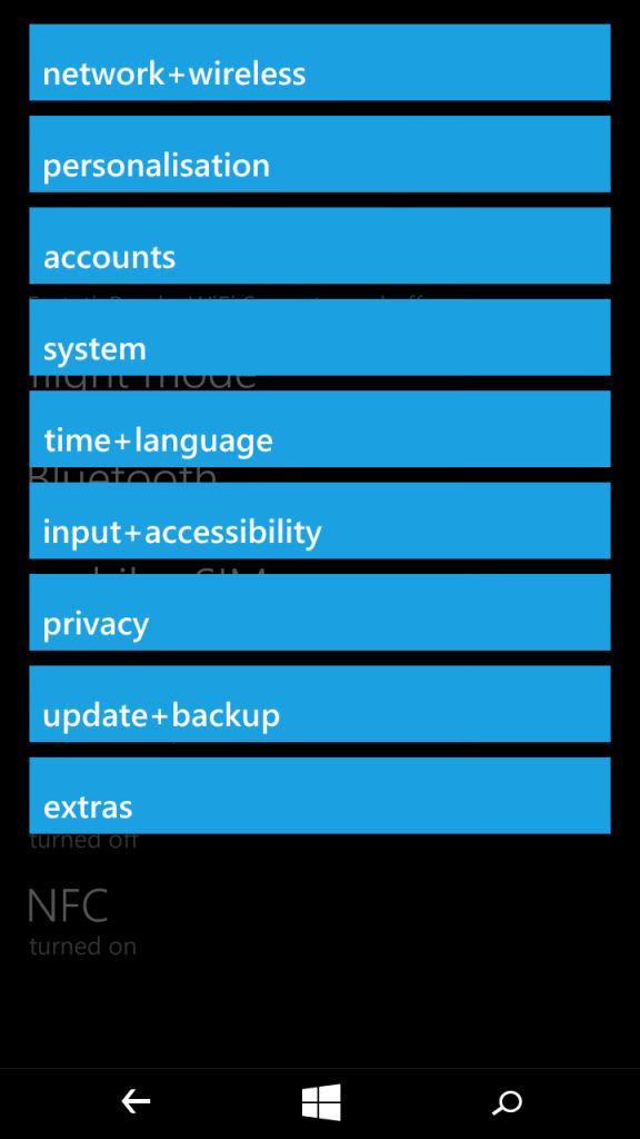 Microsoft Lumia XL_settings_2