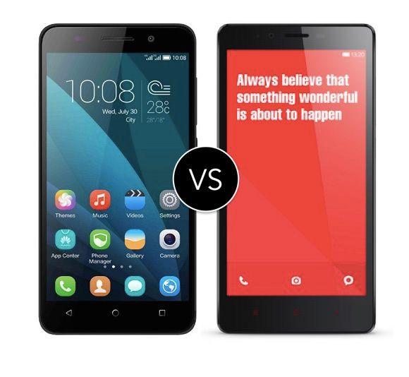 Honor 4x vs Xiaomi Redmi Note 4G