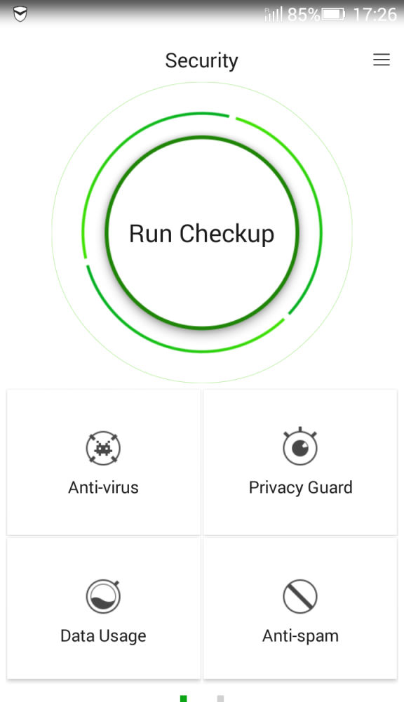 Lenovo A6000 Plus_Security app