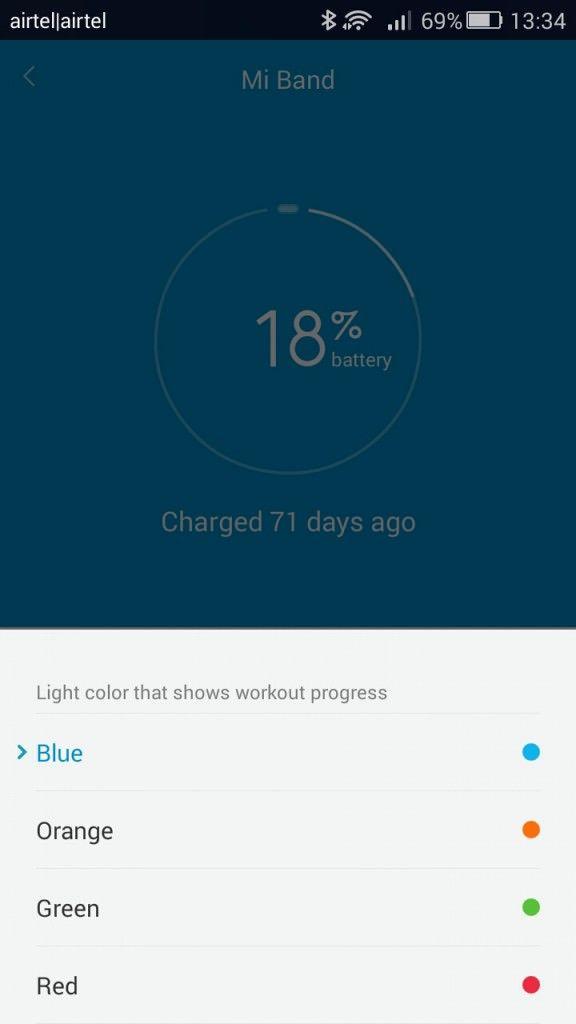 Xiaomi Mi Band_LED colour