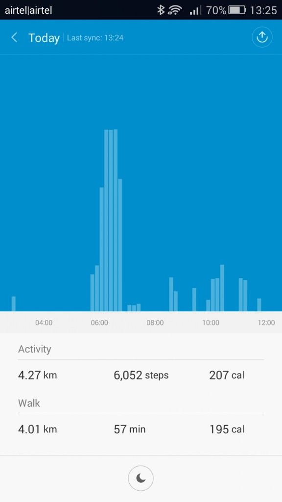 Xiaomi Mi Band_activity today view