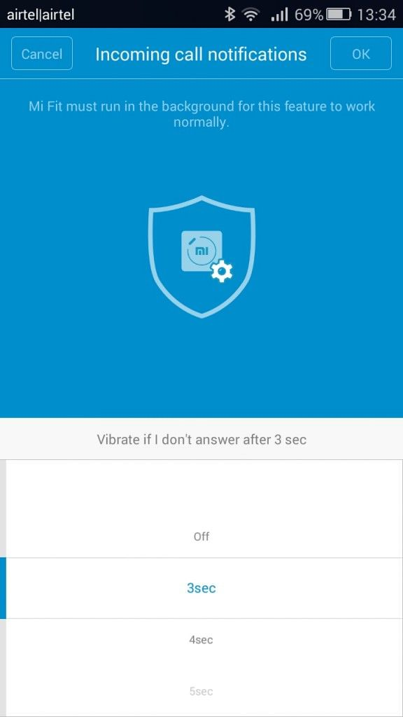 Xiaomi Mi Band_call notifications