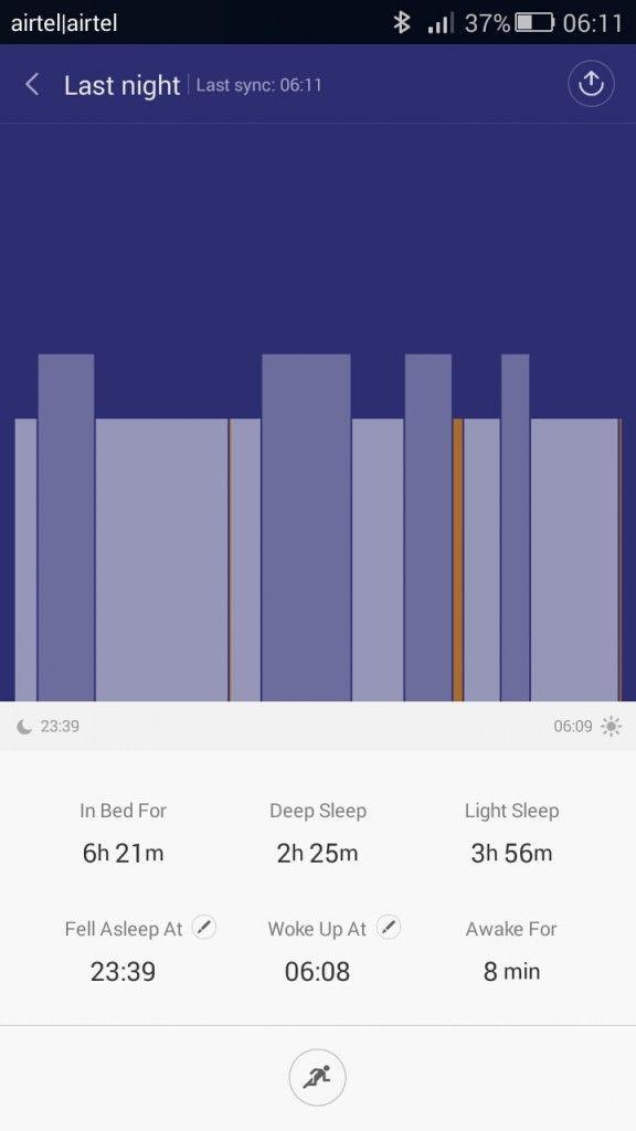Xiaomi Mi Band_sleep data