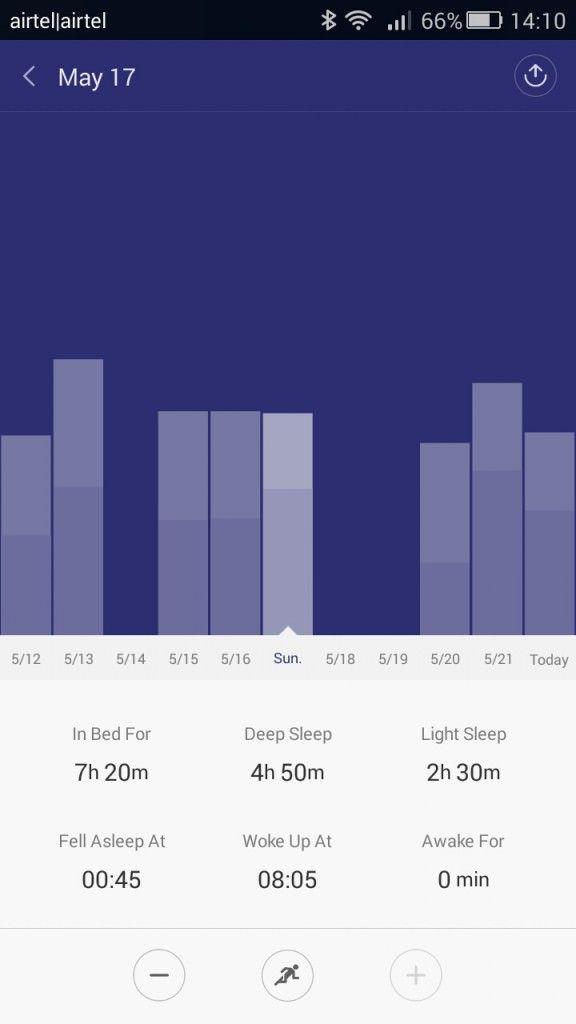 Xiaomi Mi Band_sleep history