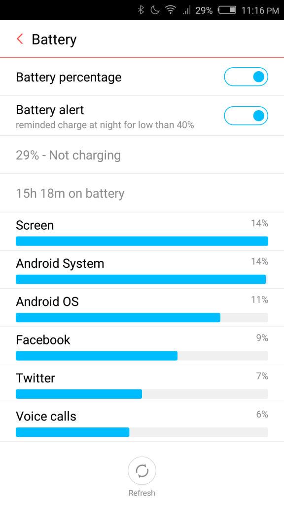 nubia Z9 mini_battery