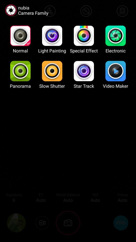 nubia Z9 mini_camera modes