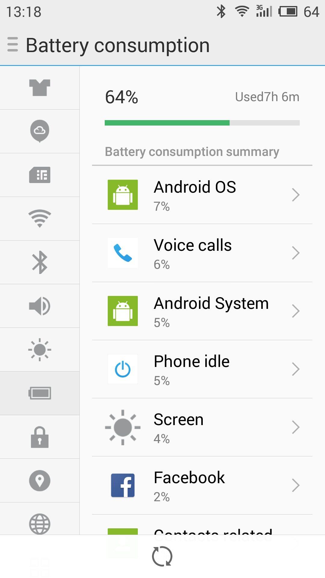 MEIZU m2 note_battery consumption