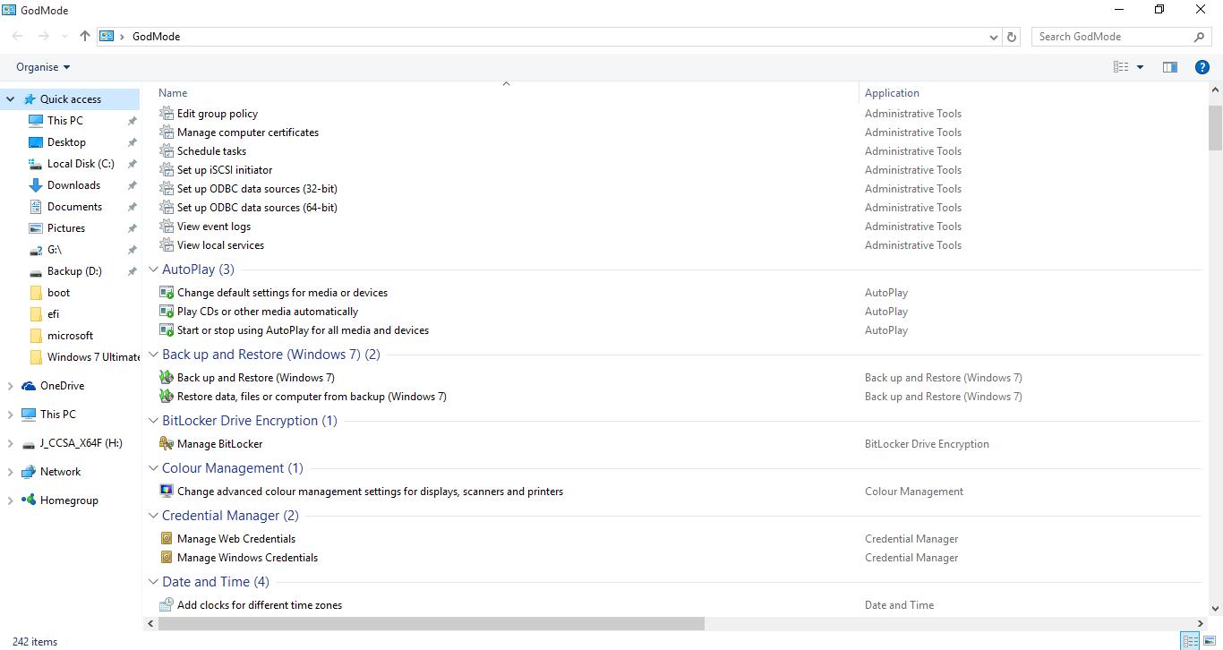 Windows 10-GodMode