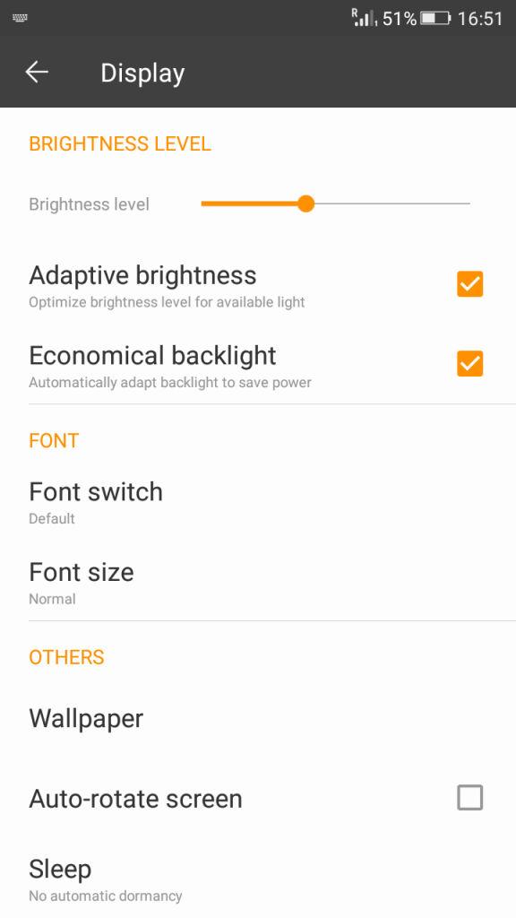 Gionee Marathon M4_Display settings_1