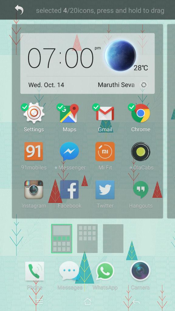 OPPO R7 Plus_app organise