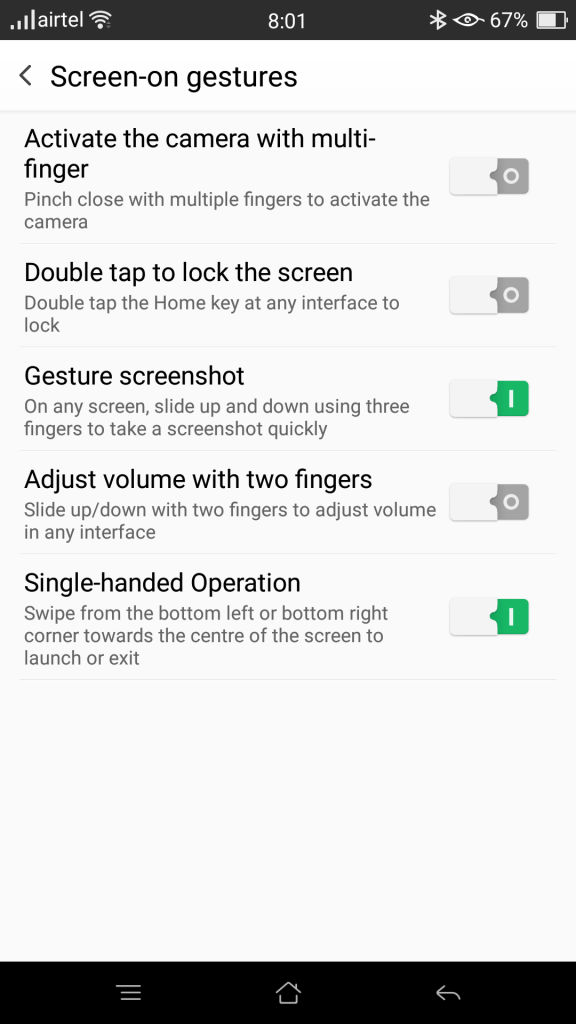 OPPO R7 Plus_screen on gestures