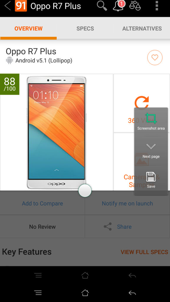 OPPO R7 Plus_screenshot feature