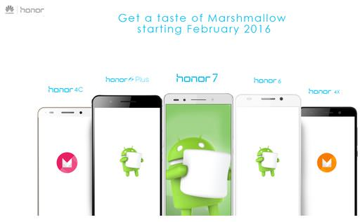Honor Marshmallow updates