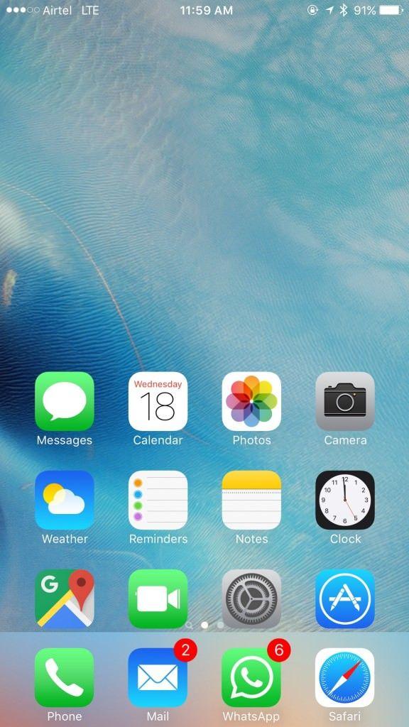iPhone 6s Plus_one handed mode