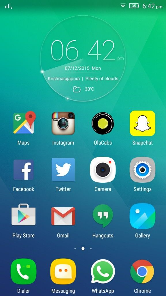 Lenovo Vibe S1_homescreen