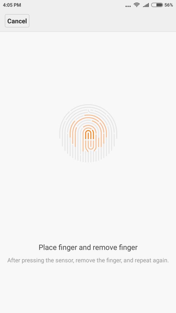 Xiaomi Mi 5_fingerprint setup