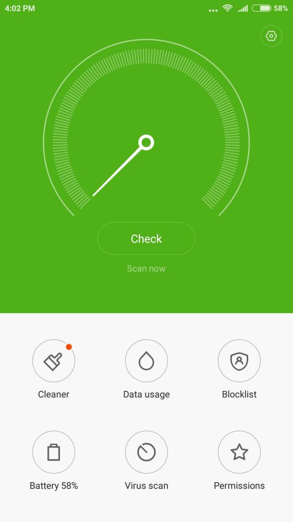 Xiaomi Mi 5_security center